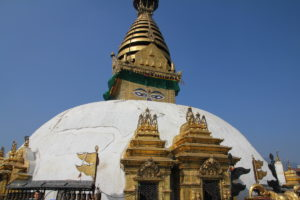 Swayambunath is only a 10 minute taxi ride away